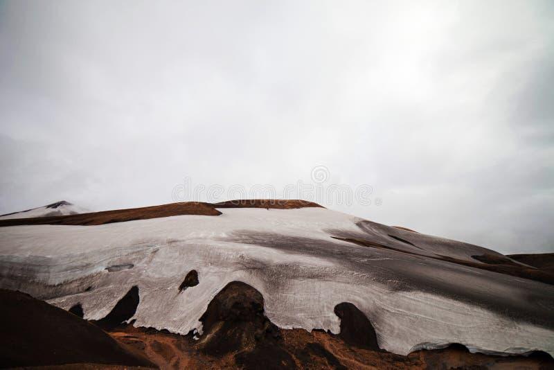 Paesaggio islandese freddo - Laugavegur, Islanda fotografie stock
