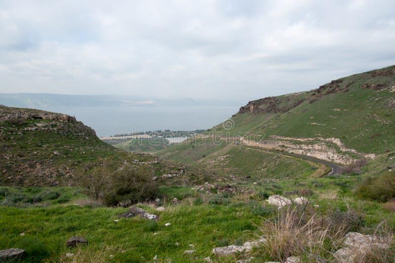 Paesaggio israeliano vicino al lago Kineret fotografie stock libere da diritti