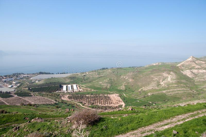 Paesaggio israeliano vicino al lago Kineret immagine stock libera da diritti