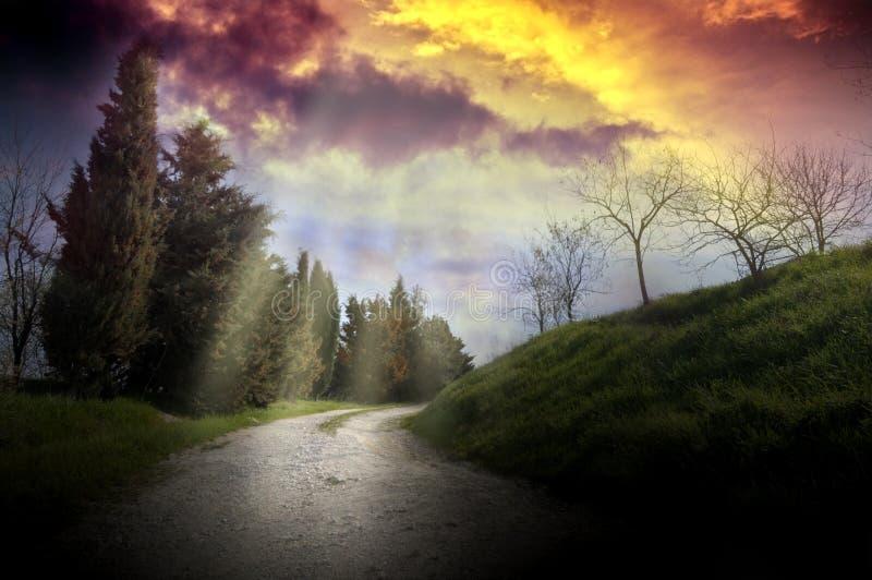 Paesaggio leggero divino immagine stock