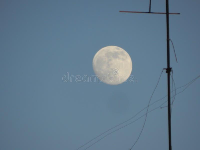 Paesaggio lunare di mattina dall'iarda fotografia stock