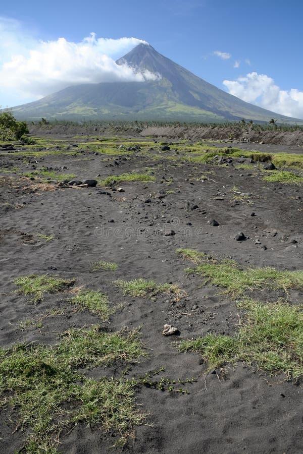Paesaggio luzon Filippine del vulcano del mayon del supporto fotografia stock