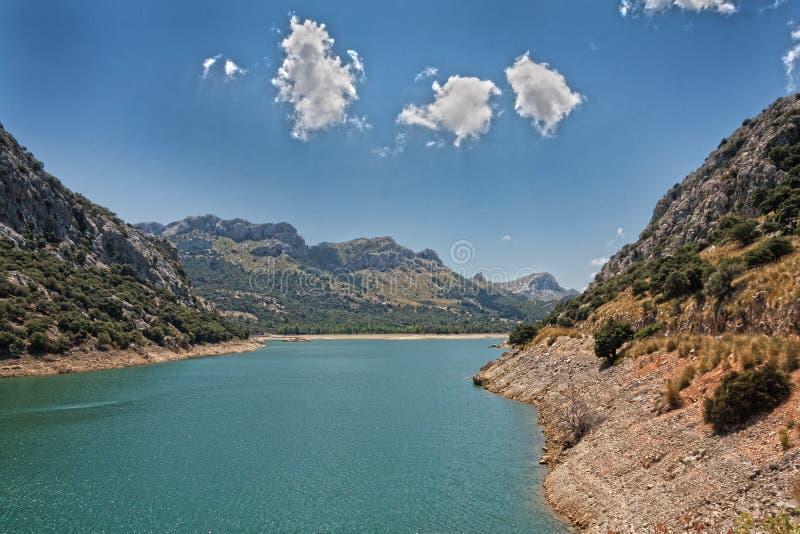 Paesaggio Mallorca Lake de Gorg Blau fotografia stock libera da diritti