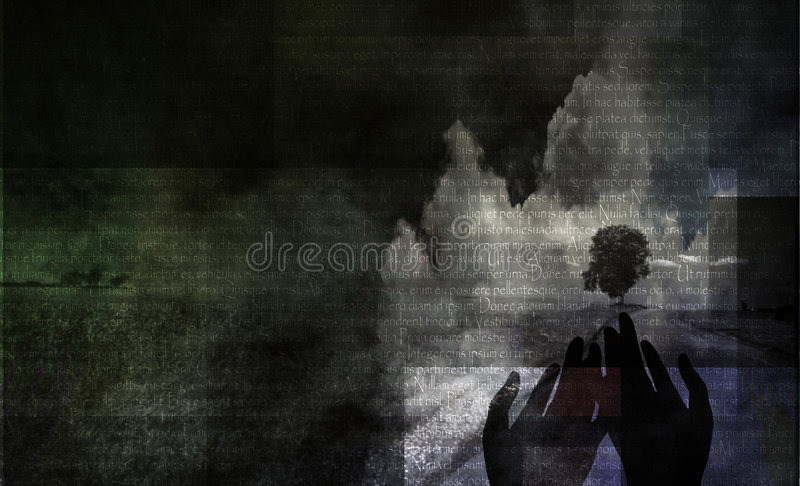 Paesaggio Meditative illustrazione vettoriale