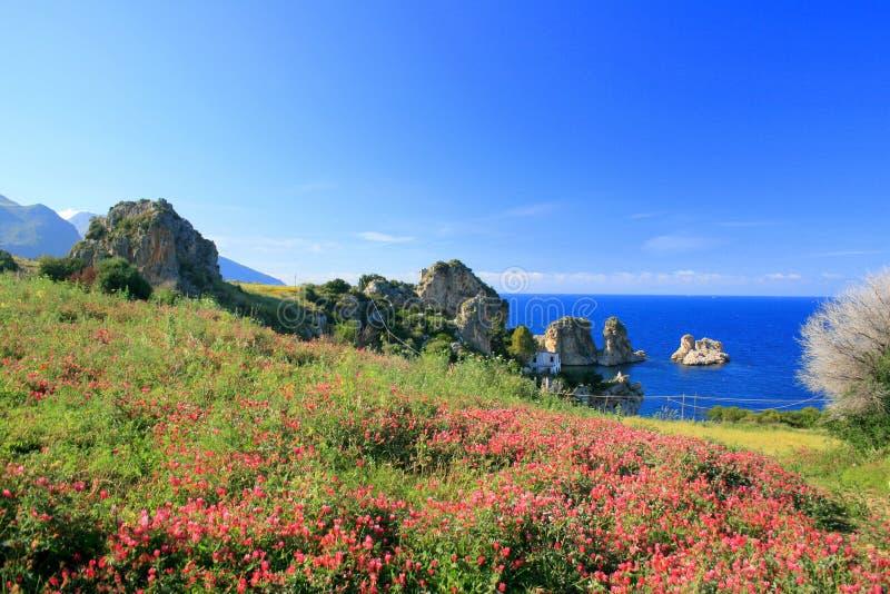 Paesaggio, Mediterraneo blu immagine stock