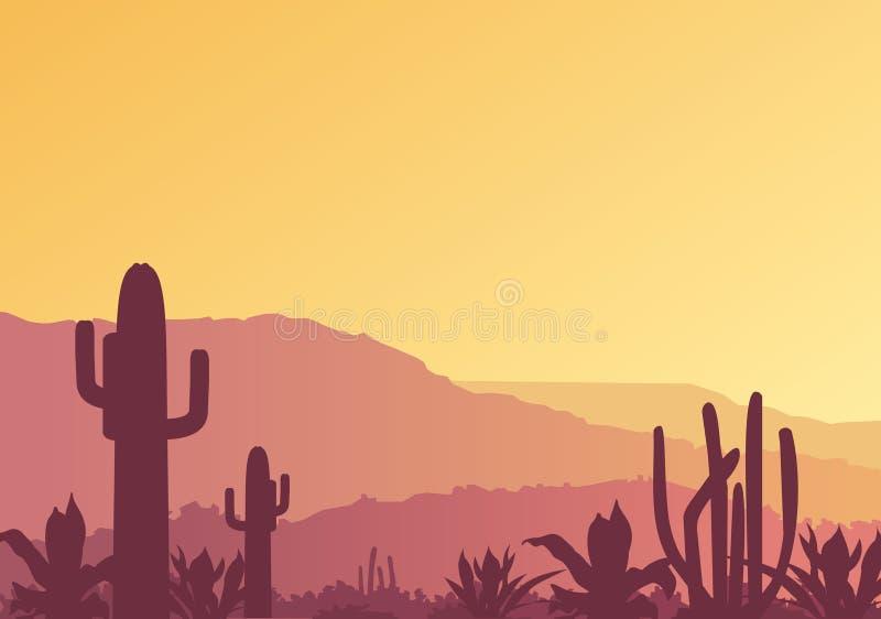Paesaggio messicano illustrazione di stock