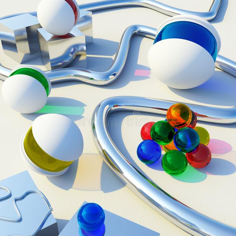 paesaggio moderno 3D illustrazione di stock