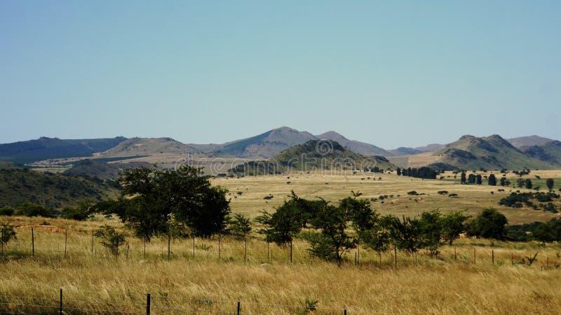 Paesaggio montagnoso nello Swaziland fotografia stock