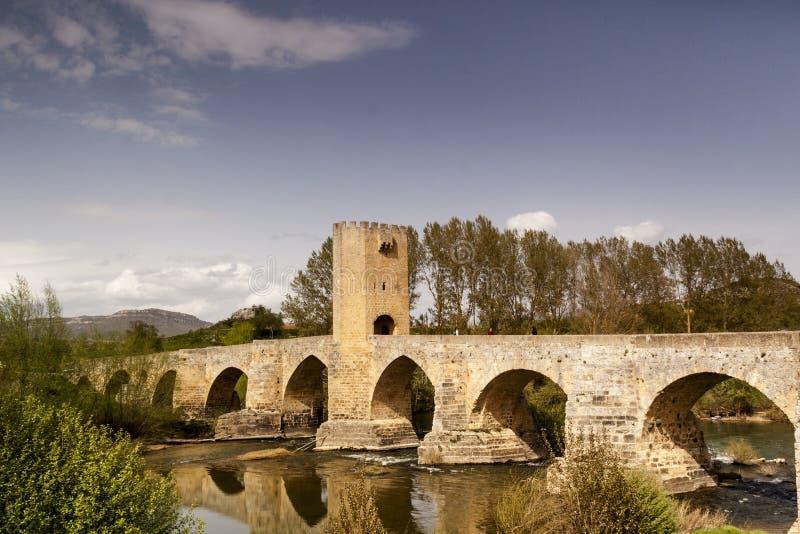 Paesaggio naturale, campi di Frias a ³ n di Burgos, Castiglia y Leà spain fotografie stock