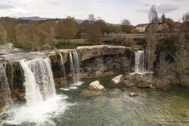 Paesaggio naturale, campi di Frias a ³ n di Burgos, Castiglia y Leà spain immagine stock libera da diritti