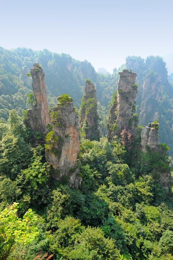 Paesaggio naturale in Cina fotografie stock libere da diritti