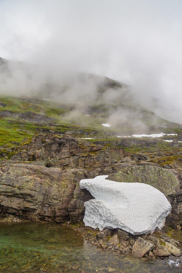 Paesaggio naturale della Norvegia della bella natura fotografie stock