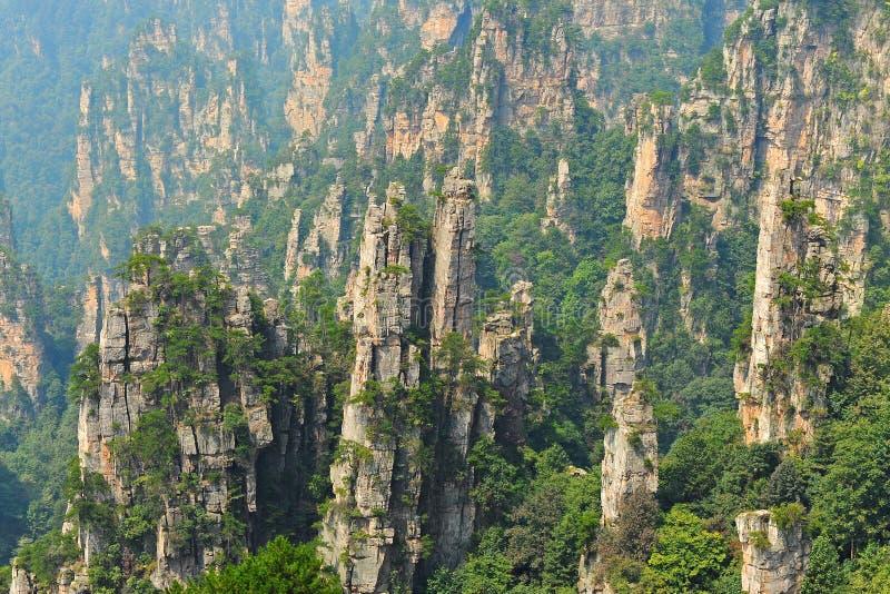 Paesaggio naturale di Zhangjiajie immagine stock libera da diritti