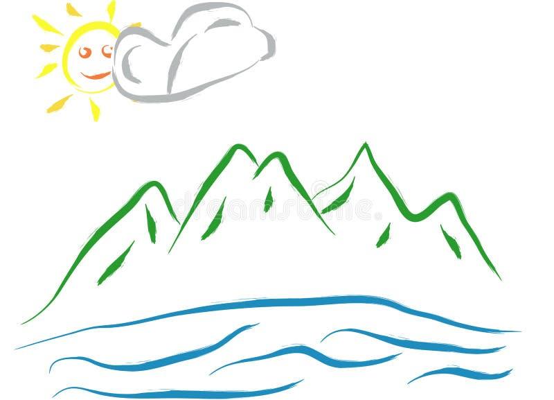Paesaggio naturale - estratto illustrazione di stock