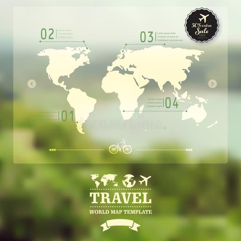 Paesaggio naturale vago vettore Mappa su fondo confuso Ido royalty illustrazione gratis