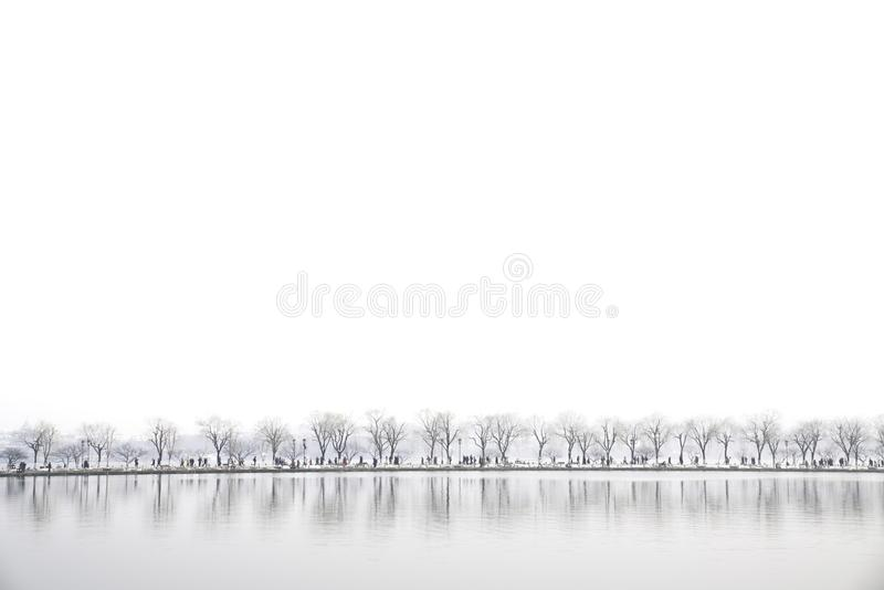 Paesaggio nel lago Xihu, Hangzhou, Cina fotografie stock libere da diritti