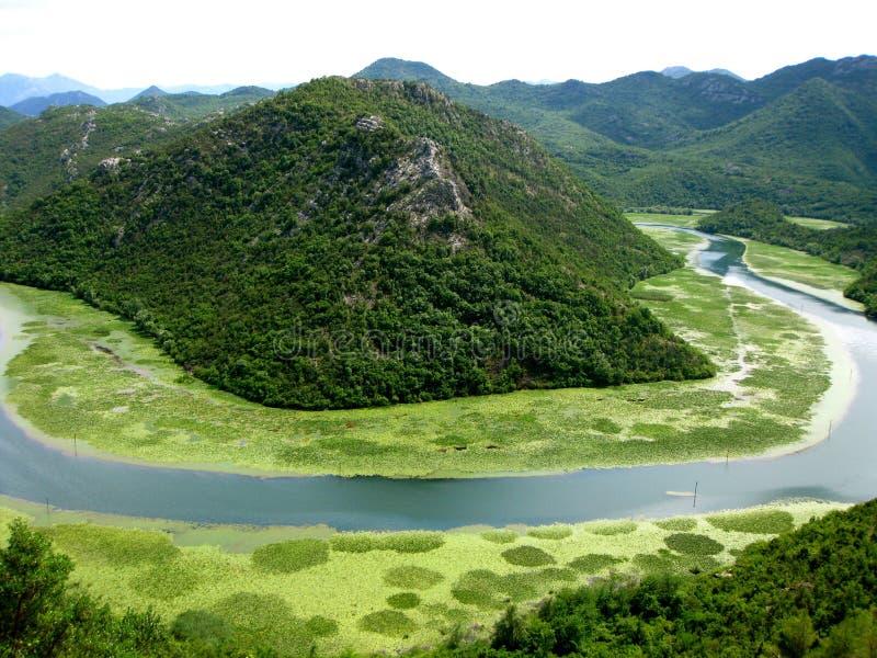 Paesaggio nel Montenegro immagine stock