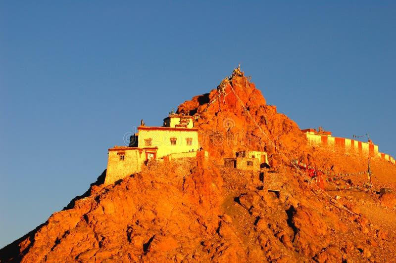 Paesaggio nel Tibet fotografia stock