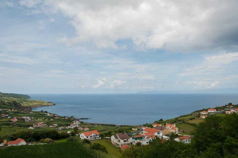 Paesaggio nell'isola di Faial azores fotografia stock libera da diritti