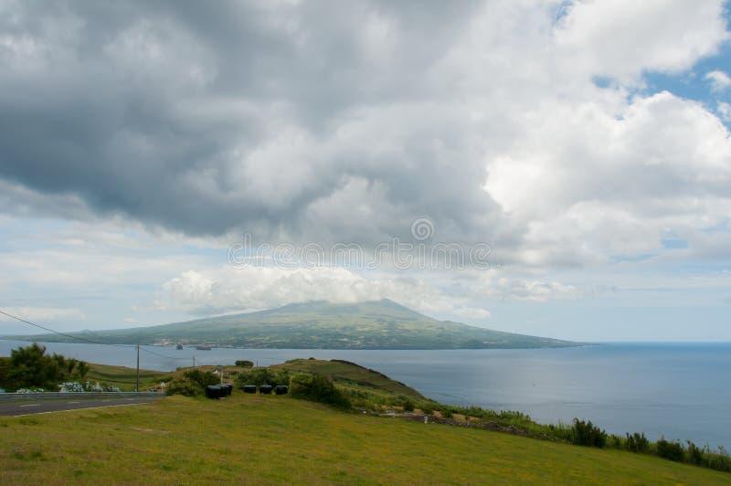 Paesaggio nell'isola di Faial azores fotografie stock