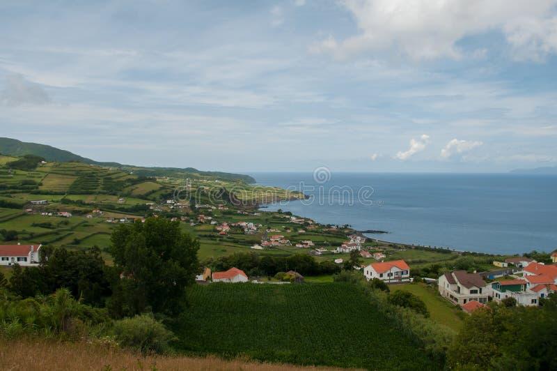 Paesaggio nell'isola di Faial azores fotografie stock libere da diritti
