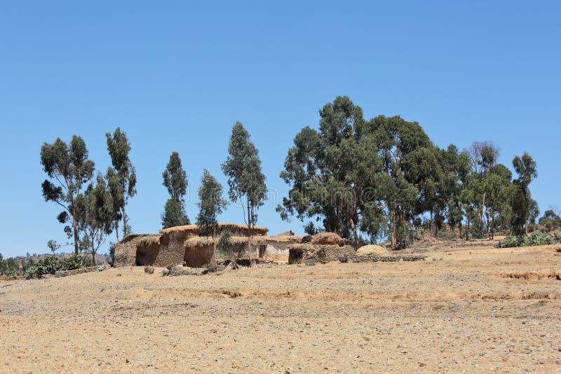 Paesaggio nella provincia di Tigray, Etiopia fotografie stock libere da diritti