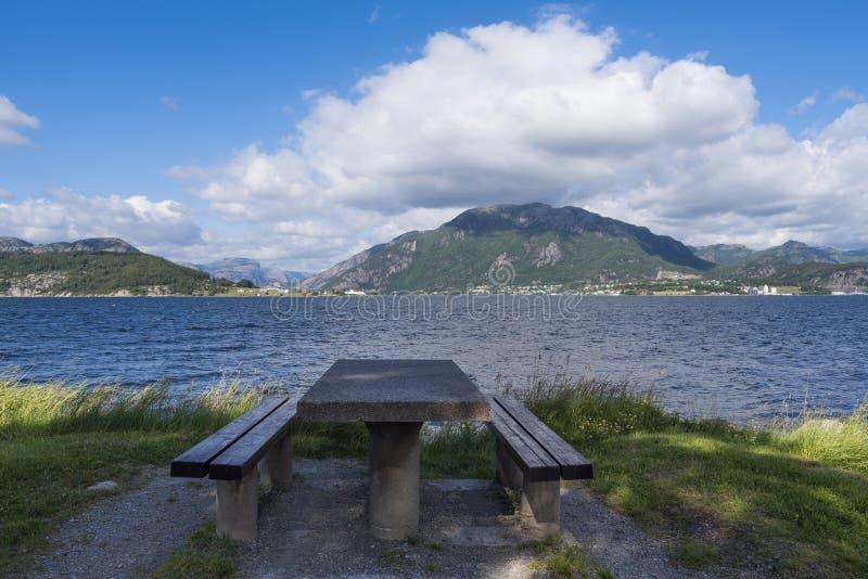 Paesaggio norvegese un giorno di estate soleggiato fotografia stock libera da diritti