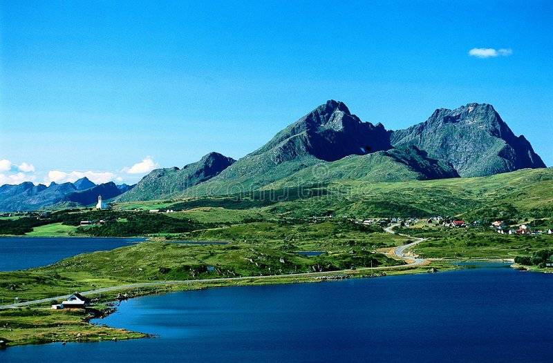 Paesaggio Norvegia del mare fotografia stock