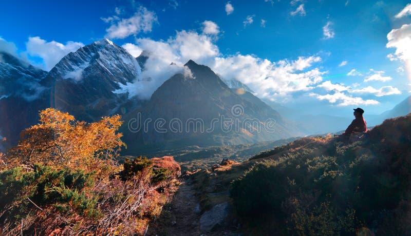 Paesaggio orientale del pendio di Everest fotografia stock libera da diritti