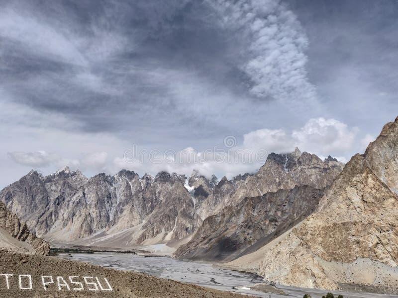 PAESAGGIO pakistan della NATURA dei CONI di PASSU immagini stock libere da diritti