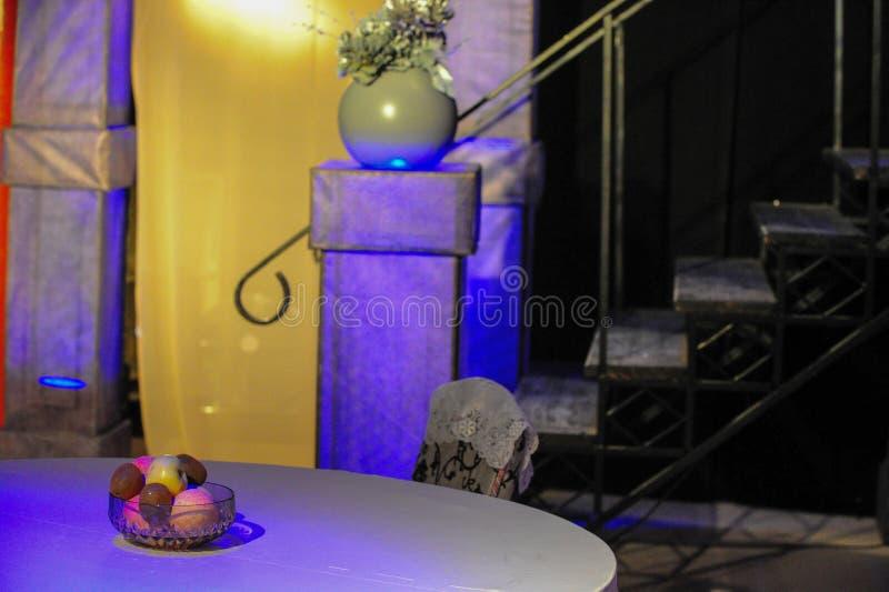 paesaggio per il gioco Organizzi l'indicatore luminoso Ornamenti nello stile dell'inglese fotografia stock libera da diritti