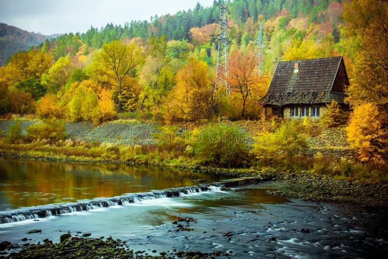 Paesaggio perfetto di autunno fotografia stock