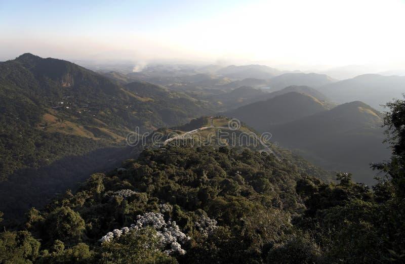 Paesaggio Petropolis Brasile delle montagne fotografia stock libera da diritti