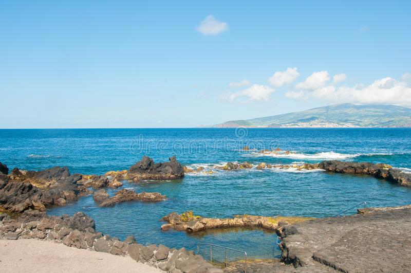 Paesaggio in Pico Island azores immagine stock