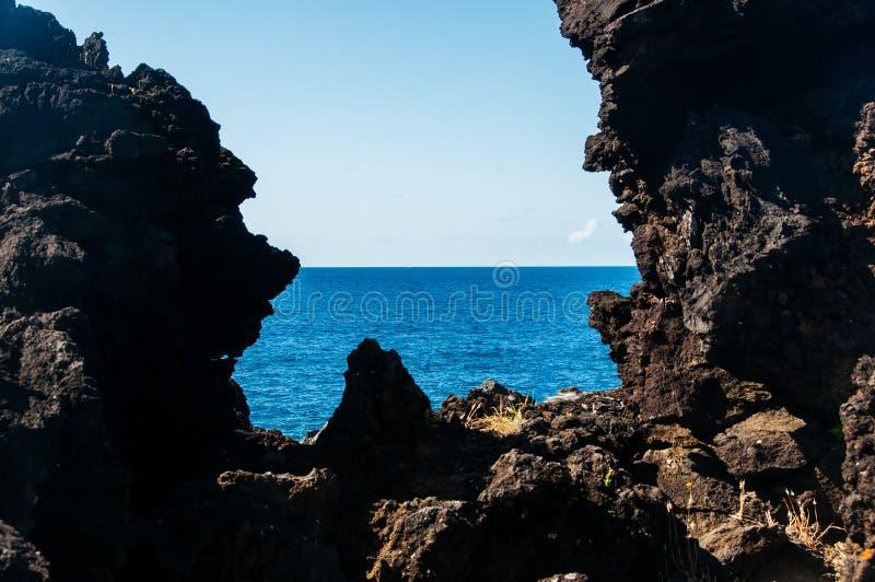Paesaggio in Pico Island azores fotografia stock