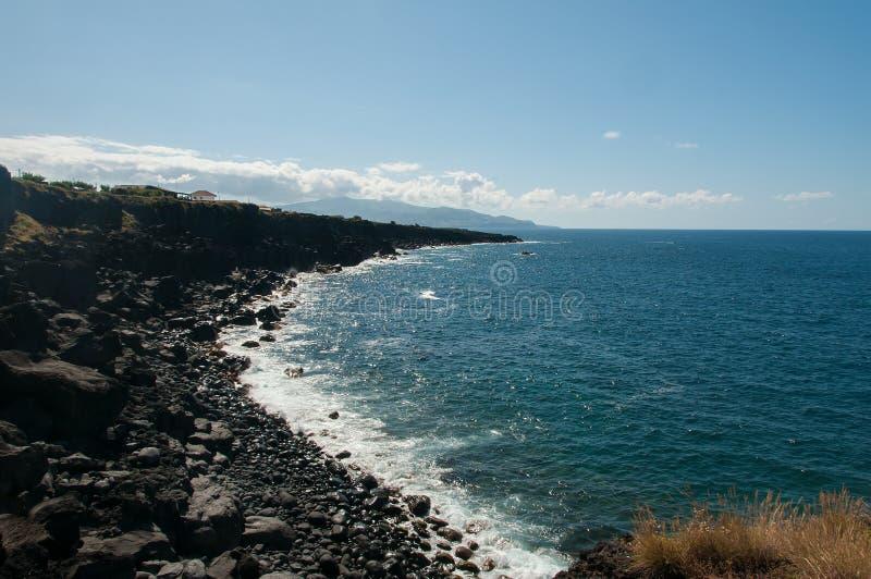 Paesaggio in Pico Island azores immagini stock