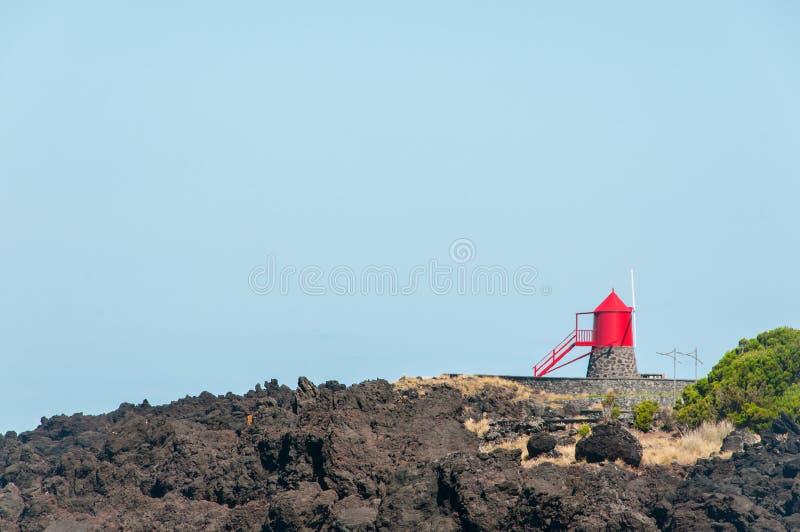 Paesaggio in Pico Island azores fotografie stock