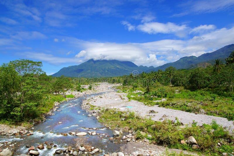Paesaggio pittoresco della montagna. Filippine immagini stock