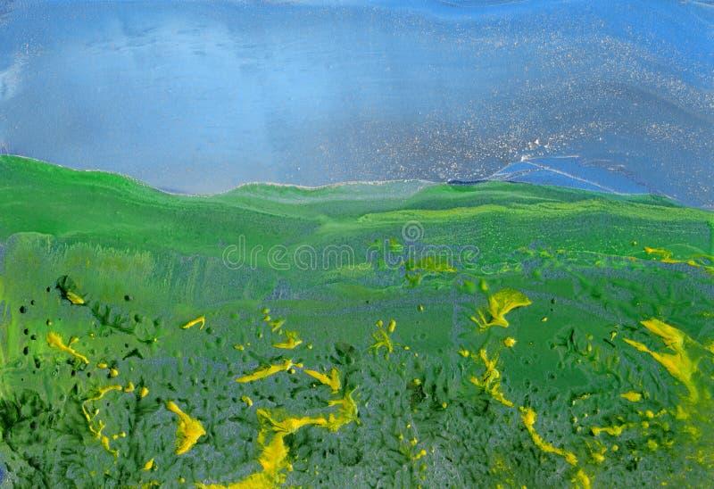 Paesaggio, pittura astratta immagini stock libere da diritti