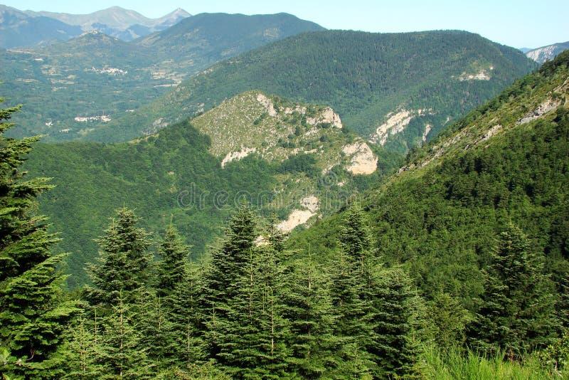 Paesaggio in Pyrenees fotografia stock
