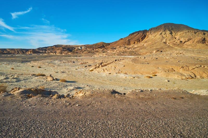 Paesaggio roccioso del deserto di Sinai, Egitto immagini stock