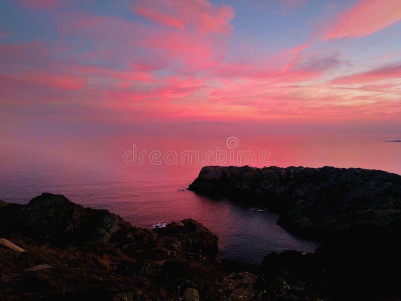 Paesaggio rosa immagini stock libere da diritti