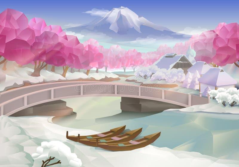 Paesaggio rosa del boschetto royalty illustrazione gratis