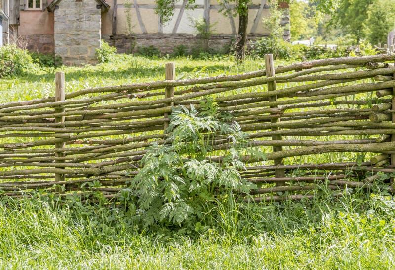 Paesaggio rurale con il granaio immagini stock
