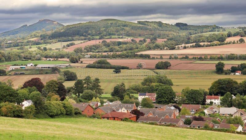Paesaggio rurale di Lingua gallese in Monmouthshire fotografie stock libere da diritti
