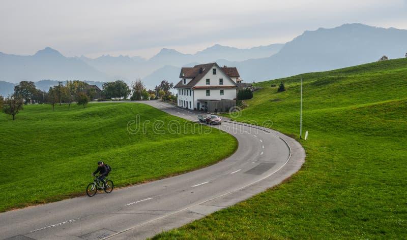 Paesaggio rurale di Lucerna, Svizzera immagini stock