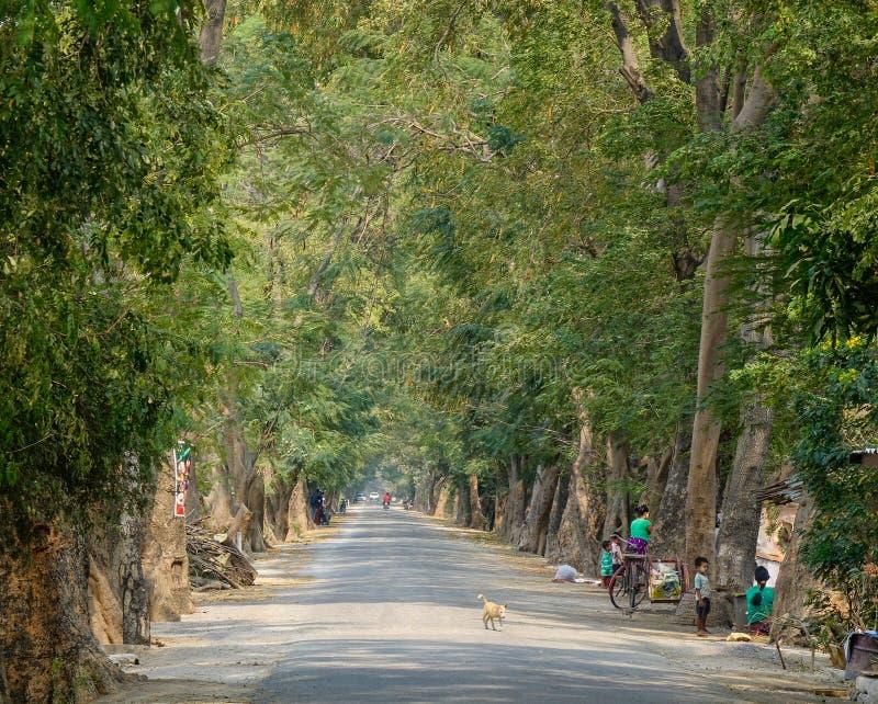 Paesaggio rurale a Mandalay, Myanmar immagini stock libere da diritti