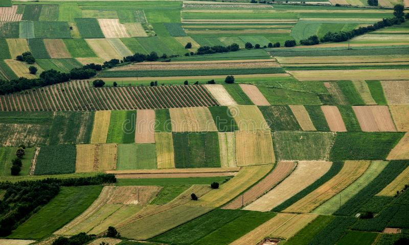 Paesaggio rurale multicolore immagine stock libera da diritti