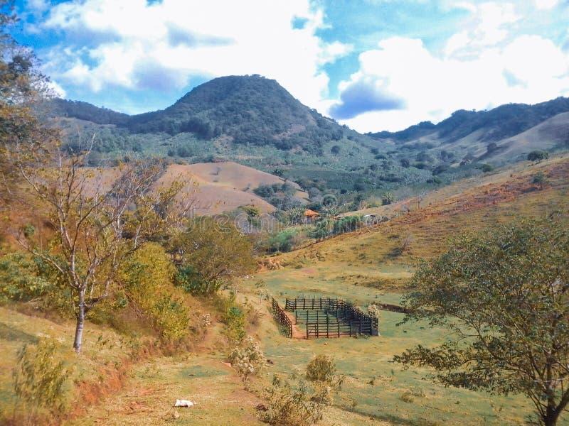 paesaggio rurale nel Brasile immagini stock libere da diritti
