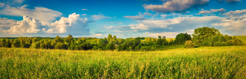 Paesaggio rurale Panorama immagini stock